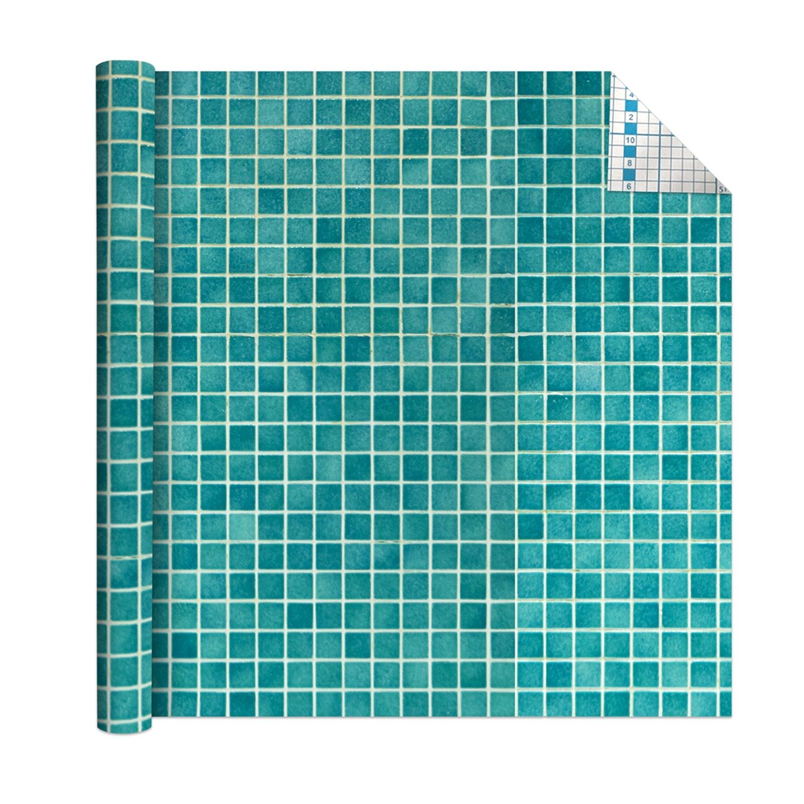 Boyle 1.5m x 45cm Peacock Mosaic Tile Self Adhesive Film