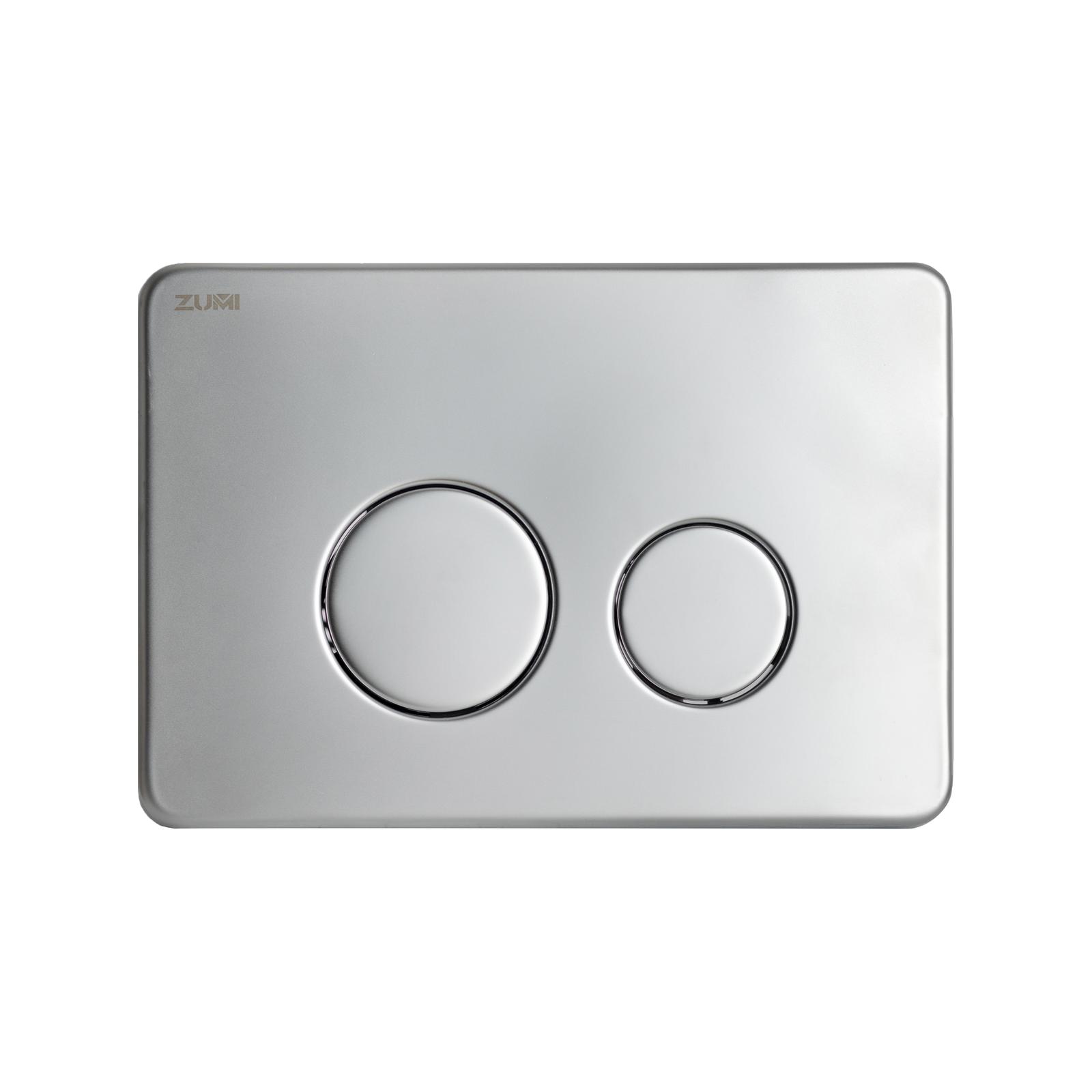 Zumi Satin Chrome Stainless Steel Flush Plate