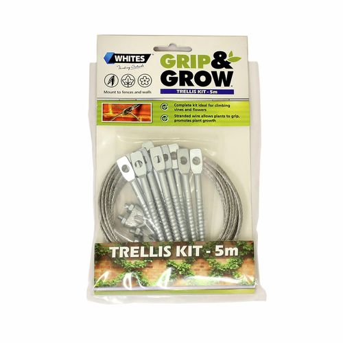 Whites 5m Grip And Grow Trellis Kit Plant Trainer