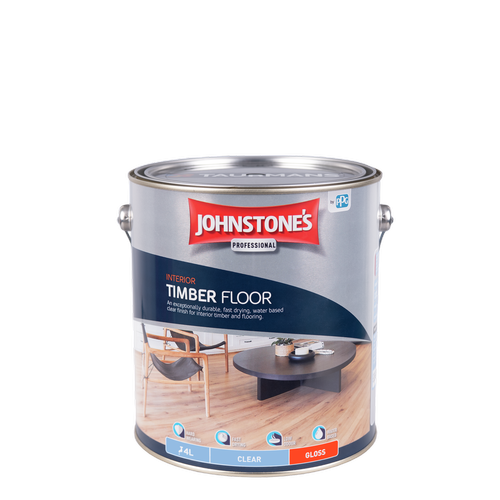 Johnstone's 4L Clear Gloss Interior Timber Floor Finish