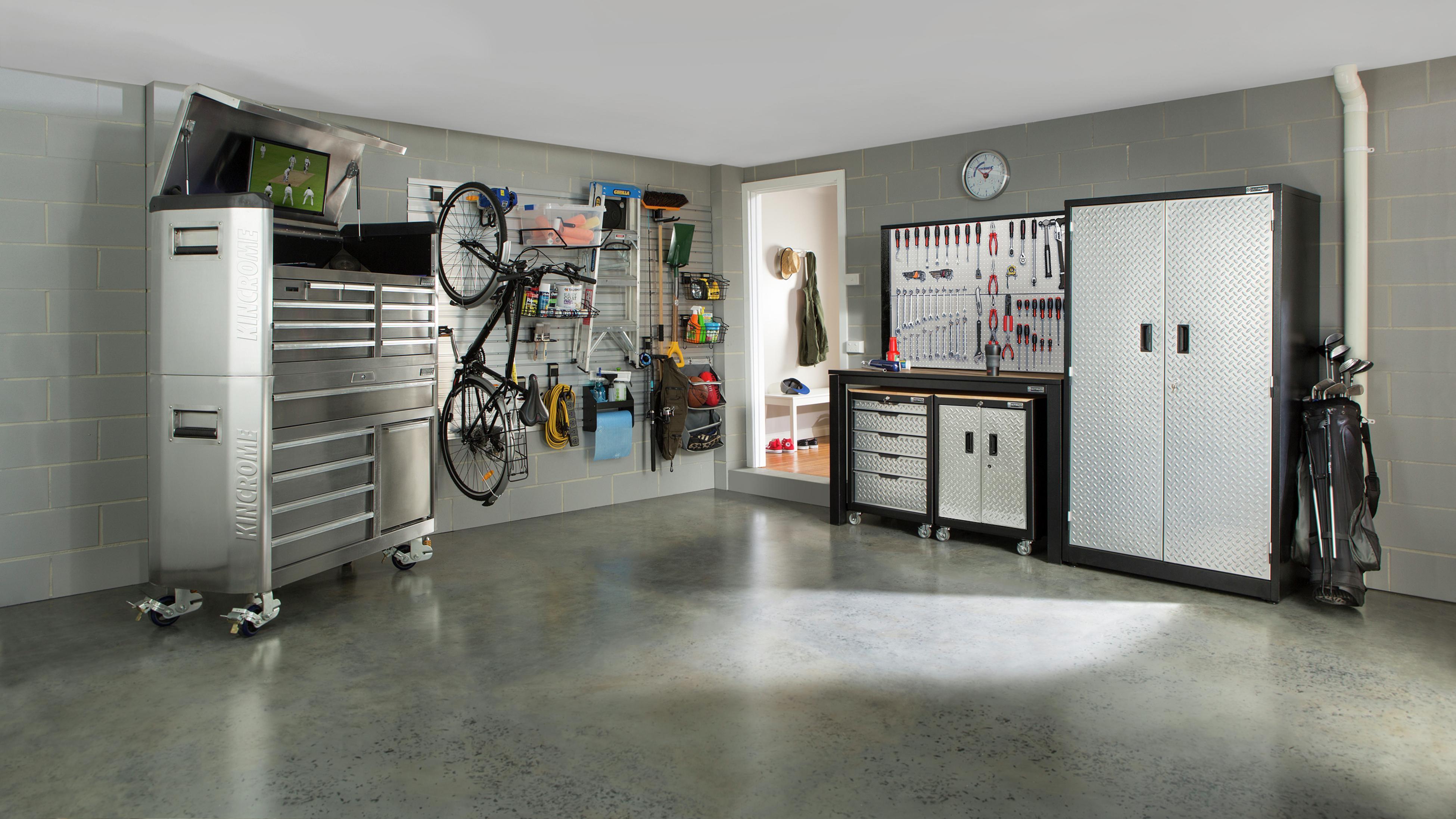 A tidy pet-proof garage