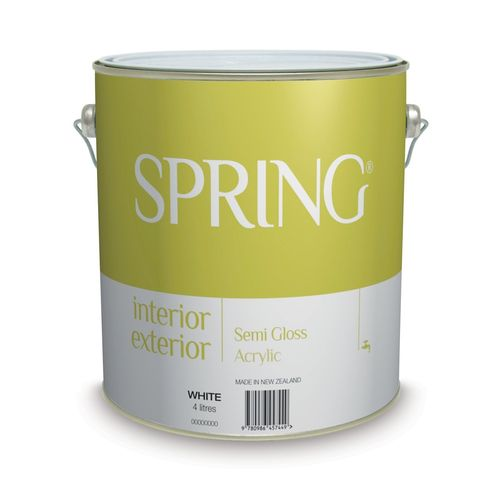 Spring 4L White Interior / Exterior Acrylic Semi Gloss