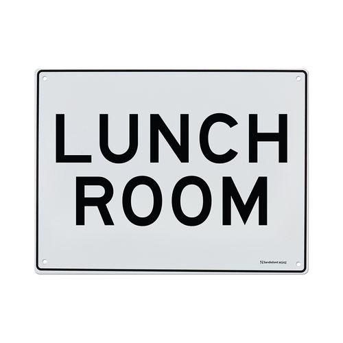 Sandleford 300 x 225mm Lunch Room Plastic Sign
