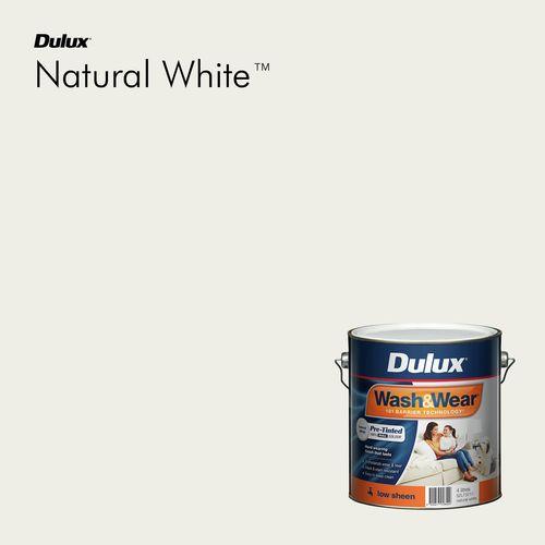 Dulux Wash&Wear 4L Low Sheen Natural White Paint