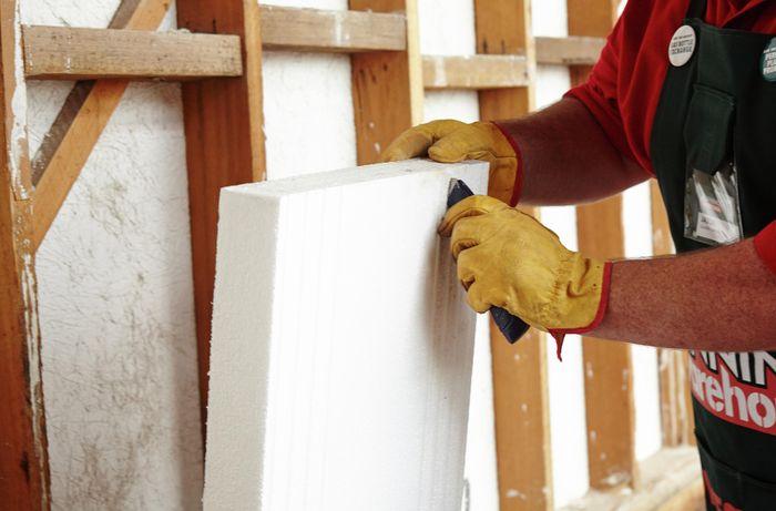 DIY Step Image - How to install polystyrene insulation . Blob storage upload.