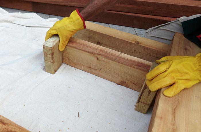 DIY Step Image - D.I.Y. outdoor day bed . Blob storage upload.