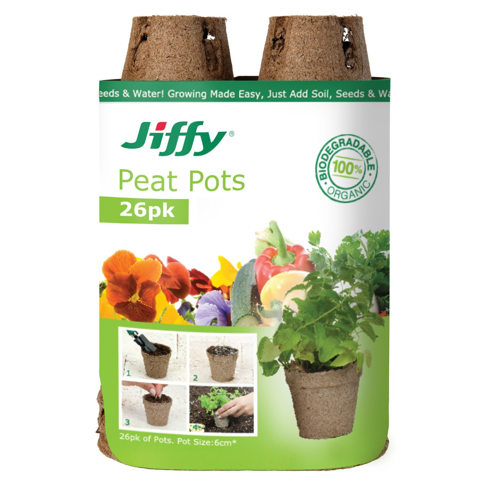 Mr Fothergill's 60mm Jiffy Round Peat Pot - 26 Pack