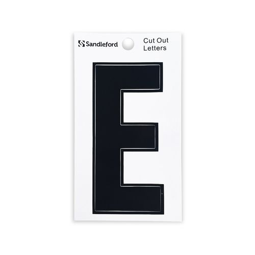 Sandleford 85mm E Black Cut Out Self Adhesive Letter