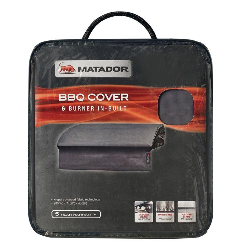 6 Burner Built In BBQ Cover