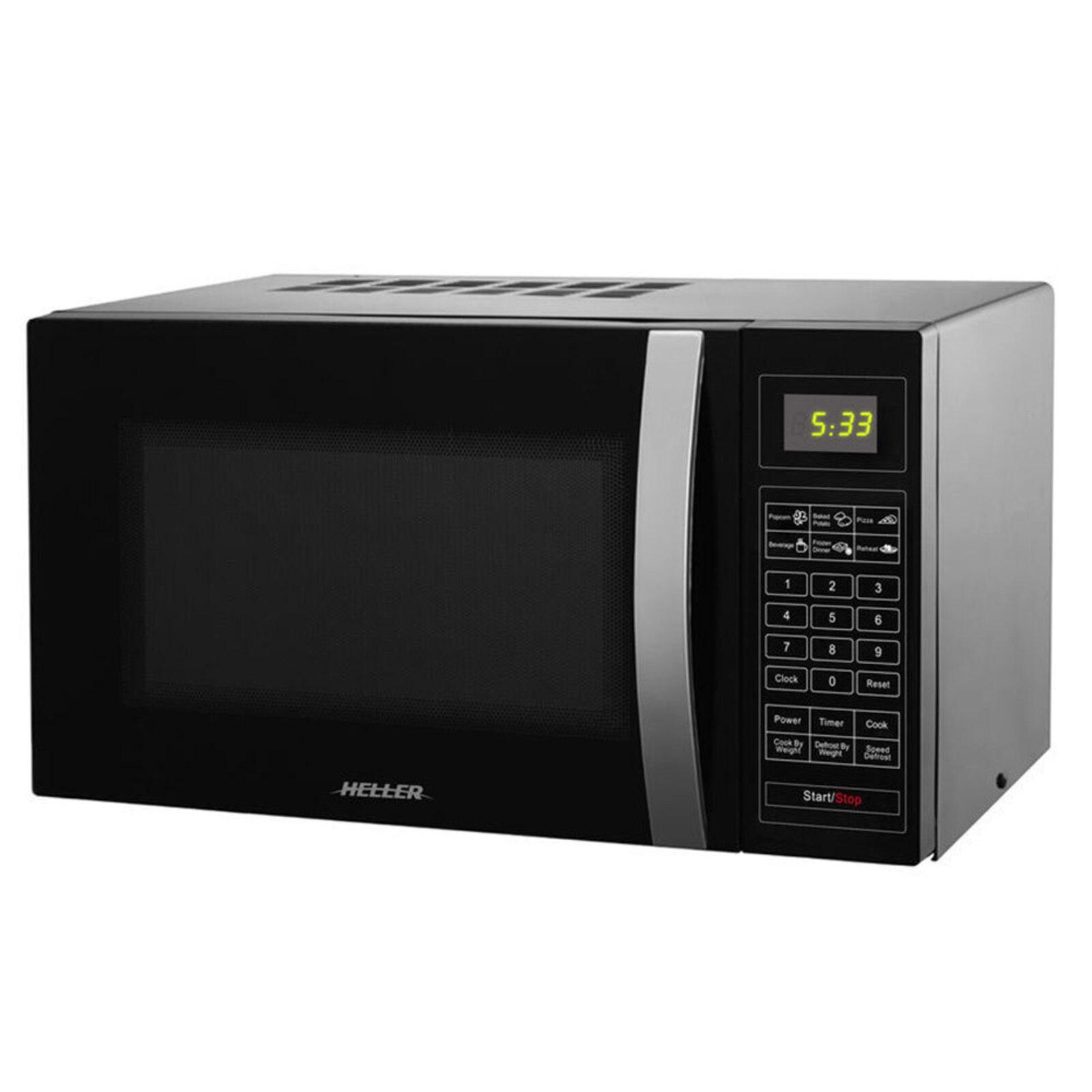 Heller 25L 900W Countertop LED Digital Cook/Heat/Defrost Microwave Oven Black