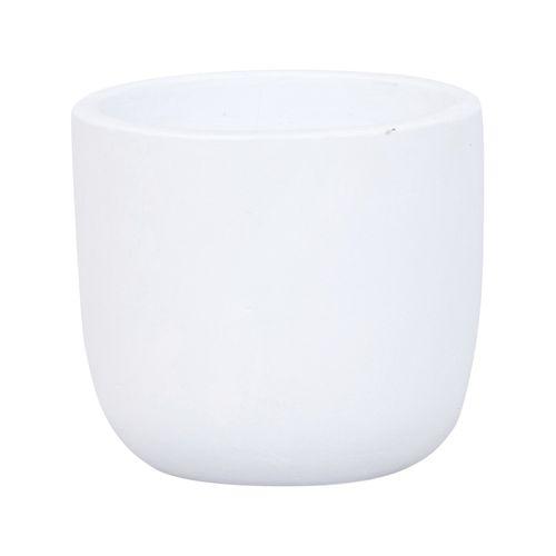 Lotus 14 x 12cm White Small Plain Ceramic Egg Pot