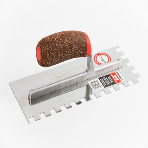Roberts 12mm Stainless Steel Square Notch Adhesive Trowel