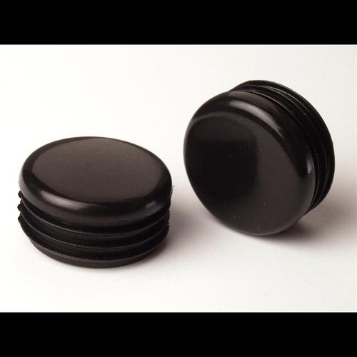 TIC 25mm Black Round Plastic Internal Chair Tip - 4 Piece