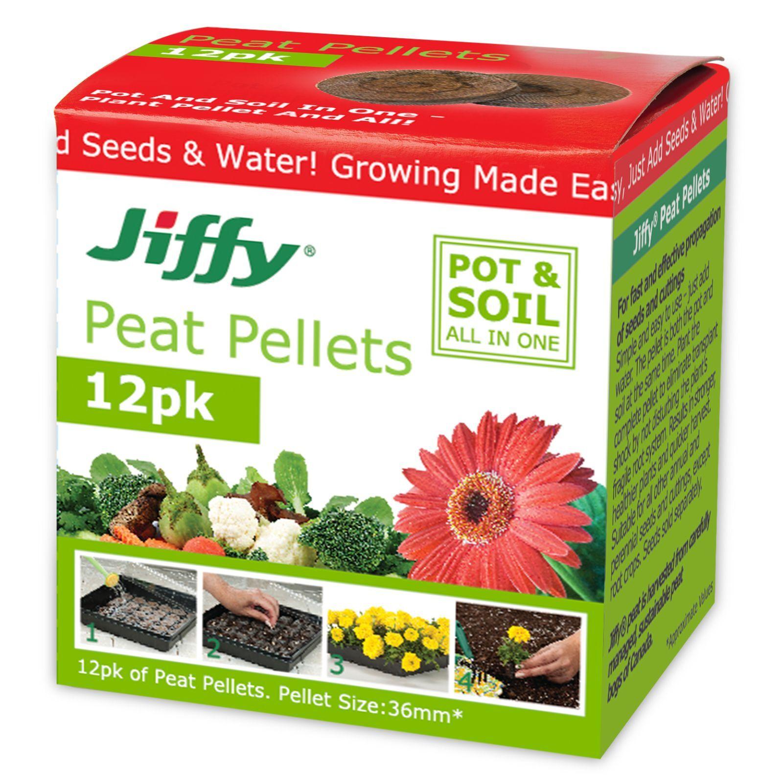 Mr Fothergill's Jiffy 36mm Peat Pellet - 12 Pack