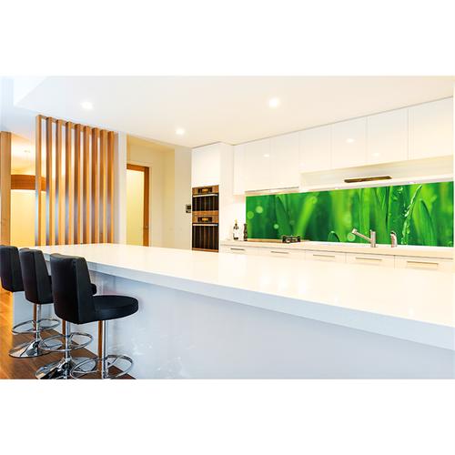 Bellessi 650 x 600 x 6mm Motiv Glass Splashback - Green Grass