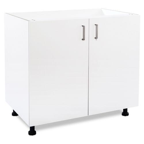 Flatpax Utility 900mm White 2 Door Base Cupboard