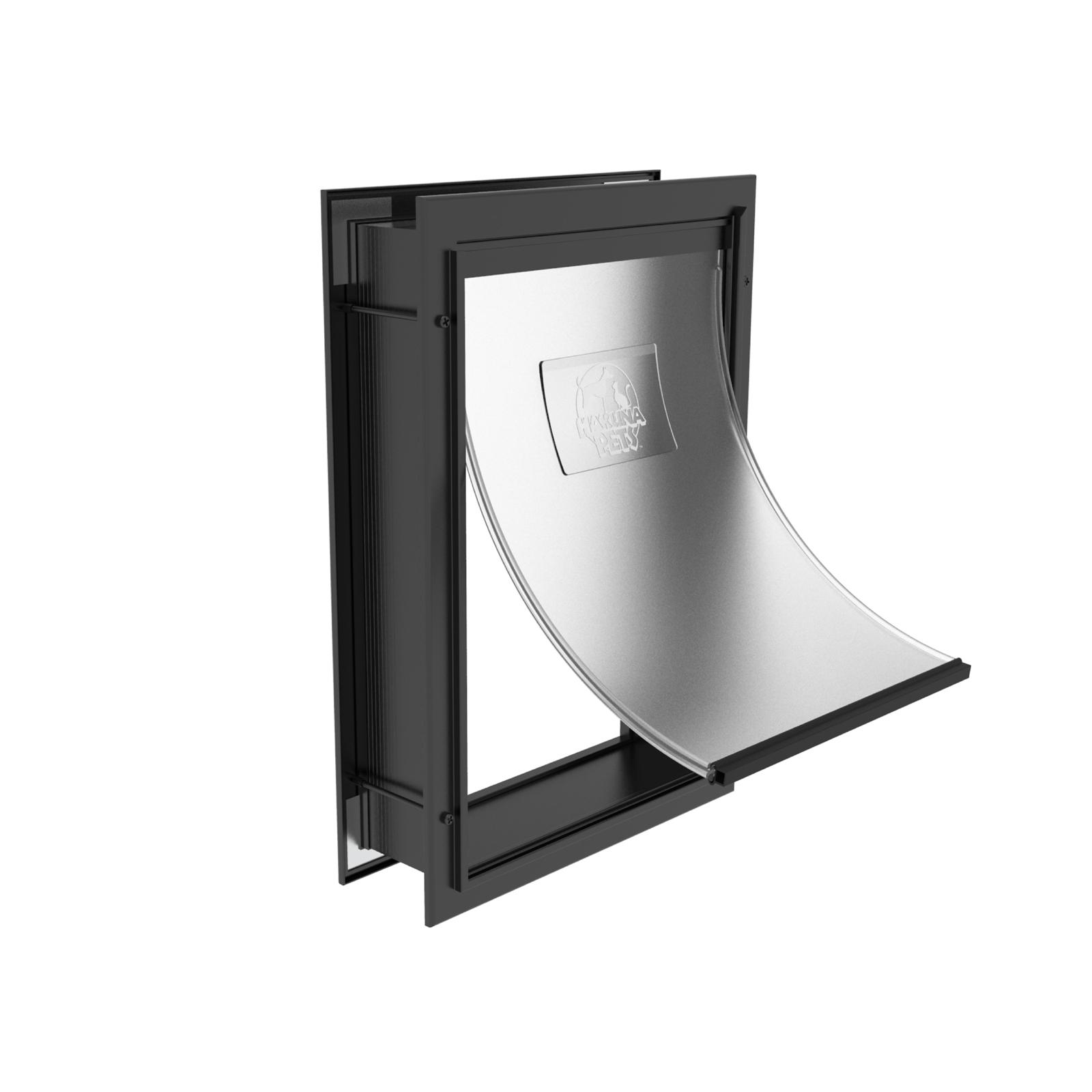 Hakuna Pets Small Black Deluxe Aluminium Pet Door
