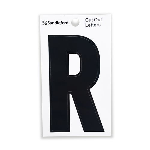 Sandleford 85mm R Black Cut Out Self Adhesive Letter