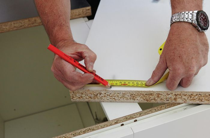 DIY Step Image - How to install a laminate benchtop . Blob storage upload.