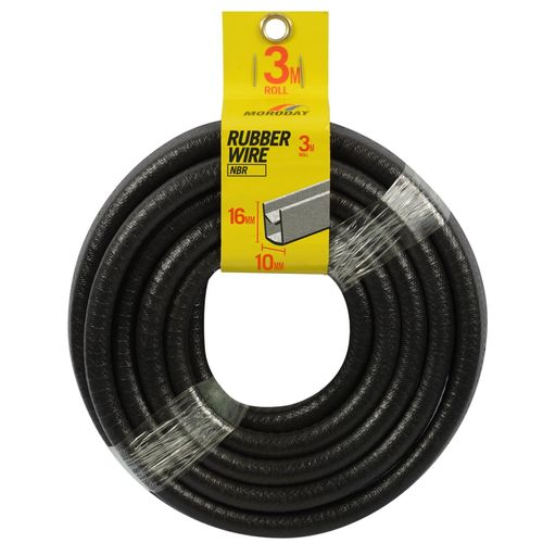 Moroday 10mm x 16mm x 3m Rubber and Wire