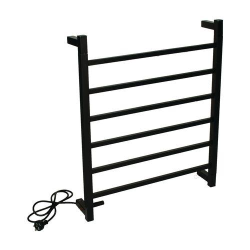 Barelli Black 6 Bar Square Heated Towel Rail