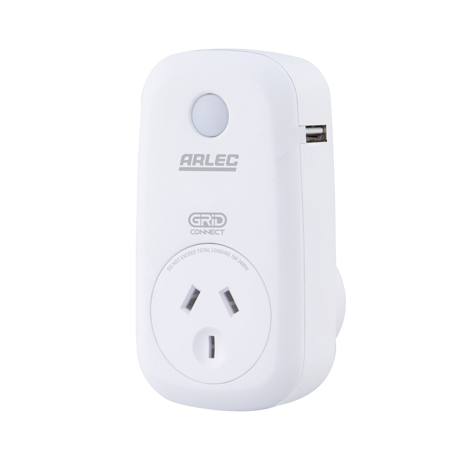 Arlec Grid Connect Smart Plug In Socket With 2.1A USB Charger
