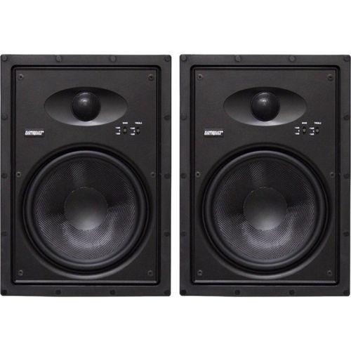 """Earthquake 8"""" Edgeless Inwall Speakers Frameless Design For Reduced Visibility/Seamless Blend 8"""" Edgeless Inwall Speakers Pair"""