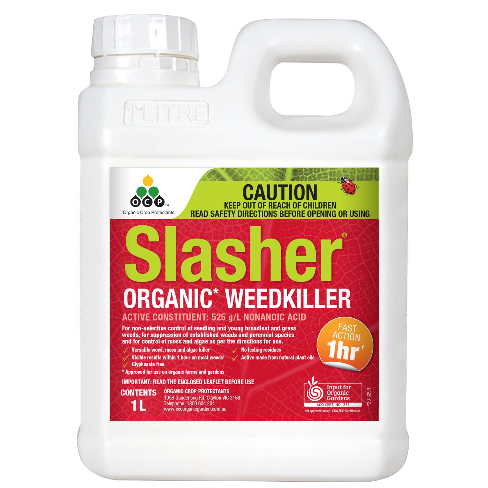Eco-Organic Garden 1L Slasher Organic Weedkiller Concentrate
