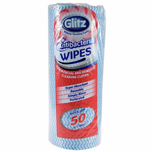 Glitz Domestic Wipes Roll - 50 Pack