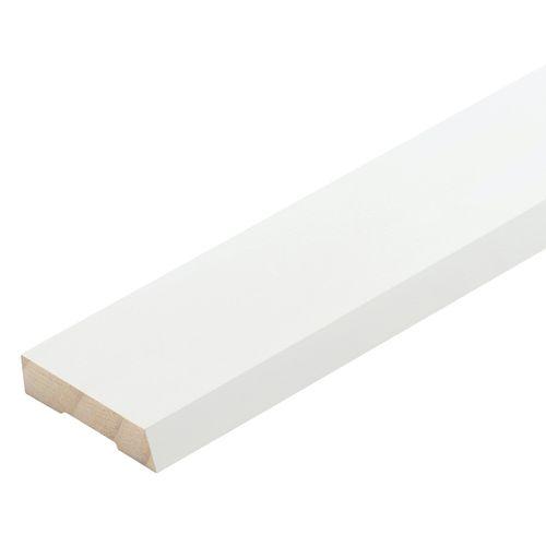 Pinetrim Plus 40 x 10mm 5.4m White Primed Finger Jointed Single Bevel Architrave
