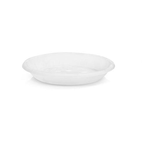 EDEN White Transparent Saucer - Clear White