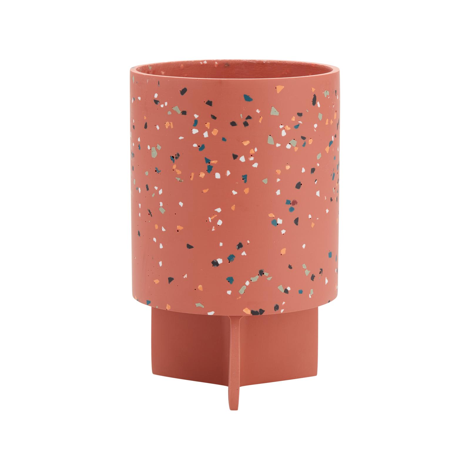 Capra 15 x 23.7cm Rose Terrazzo Resin Tri Stand Pot