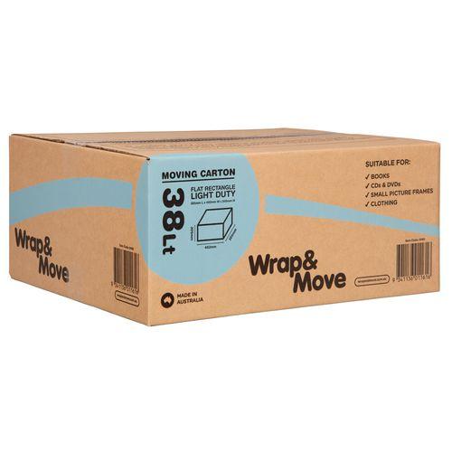 Wrap & Move 38L Light Duty Flat Moving Carton