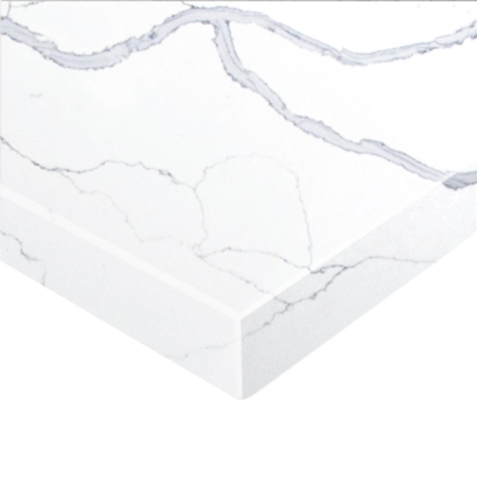 Essential Stone 20mm Square Premium Stone Benchtop - Statuario Grey