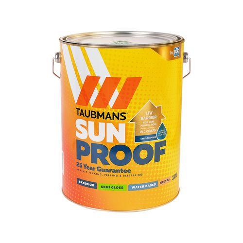 Taubmans 10L Neutral Semi Gloss Sunproof Exterior Paint