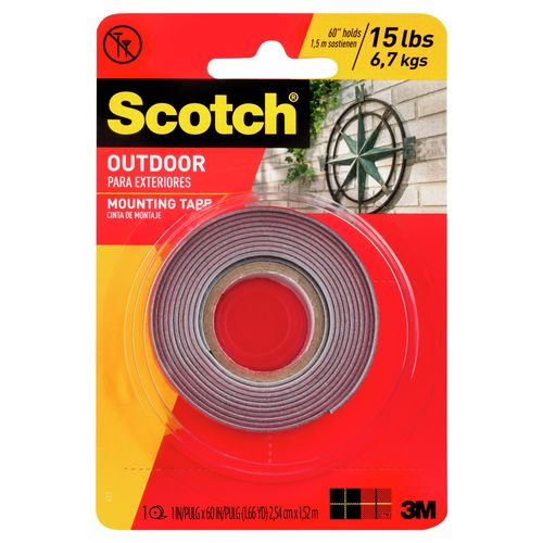 Scotch 25mm x 1.5m Outdoor Double Sided Mounting Tape