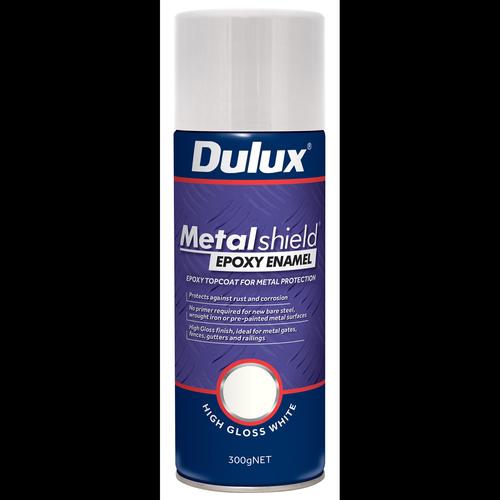 Dulux 300g Metalshield Epoxy Enamel Gloss Spray Paint White