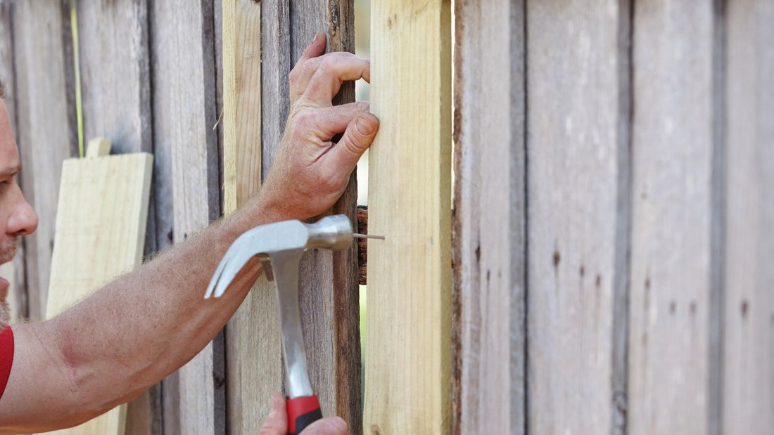 DIY Step Image - How to fix a fence paling . Blob storage upload.
