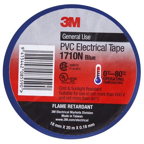3M Electric/Vinyl Tape 18mmx20m Blue