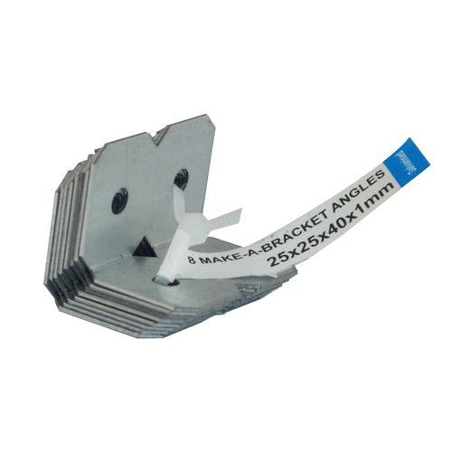 Carinya 25 x 25 x 40 x 1mm Galvanised Angle Bracket - 8 Pack