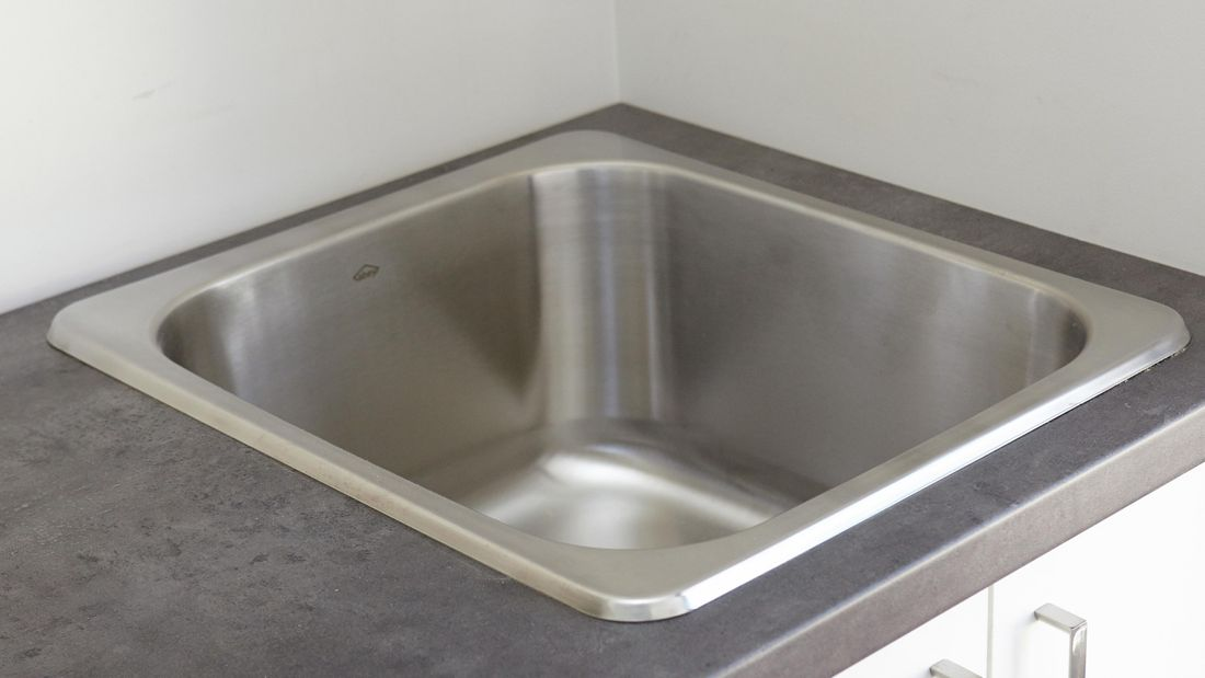 An installed laundry tub