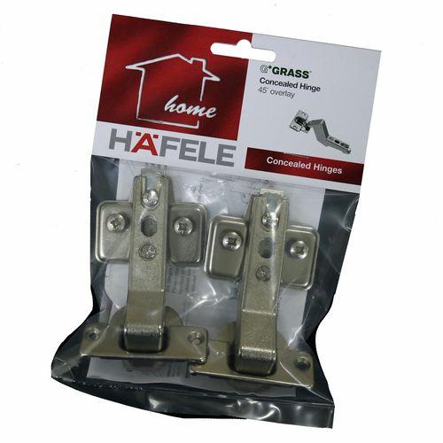 Hafele Grass 45 Degree Full Overlay Hinge - 2 Pack