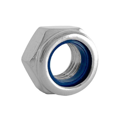 Pinnacle M12 Stainless Steel Nylon Lock Nut - 4 Pack