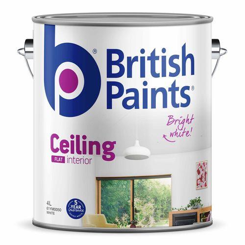British Paints Flat White Ceiling Paint