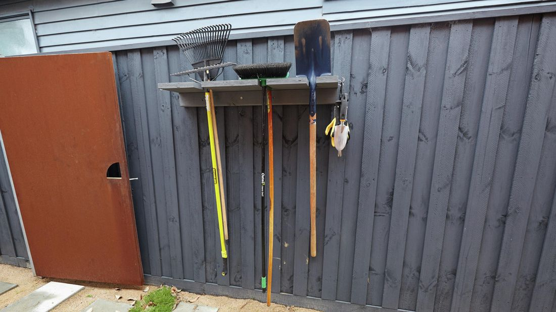 DIY Step Image - D.I.Y. garden tool storage rack . Blob storage upload.