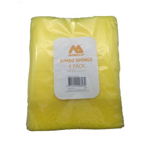 Morgan Jumbo Sponge Yellow - 4 Pack