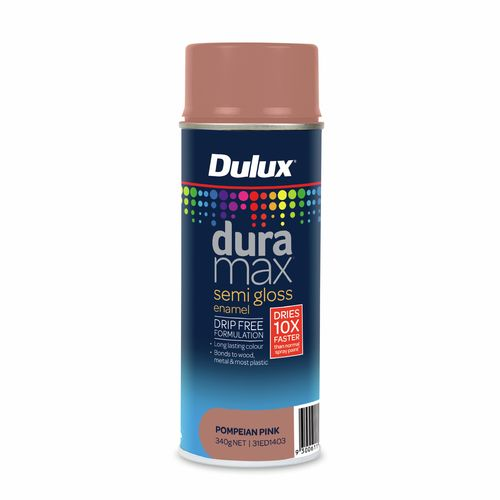 Dulux 340g Duramax Semi Gloss Pompeian Pink Spray Paint