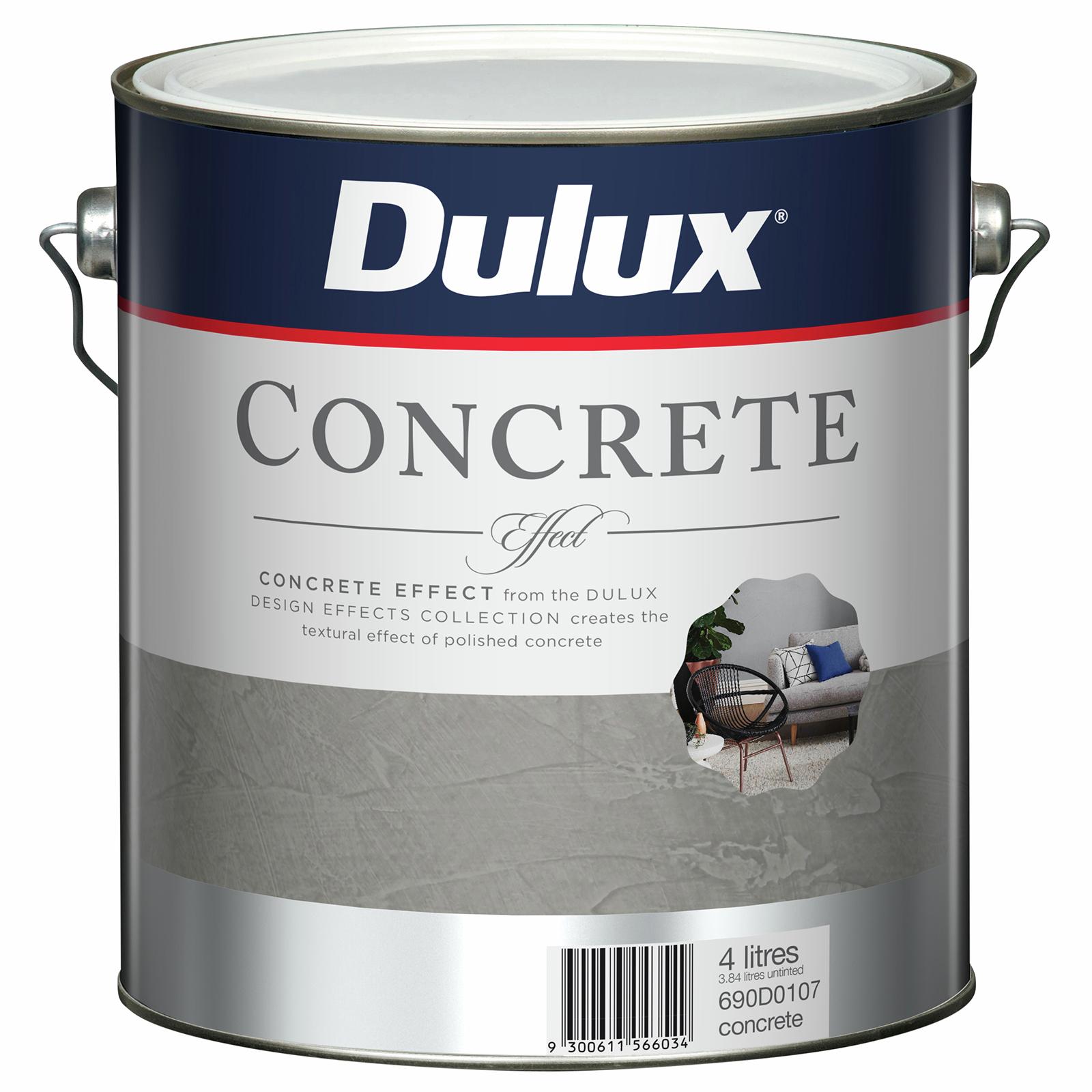 Dulux 4L Design Concrete Effect Paint