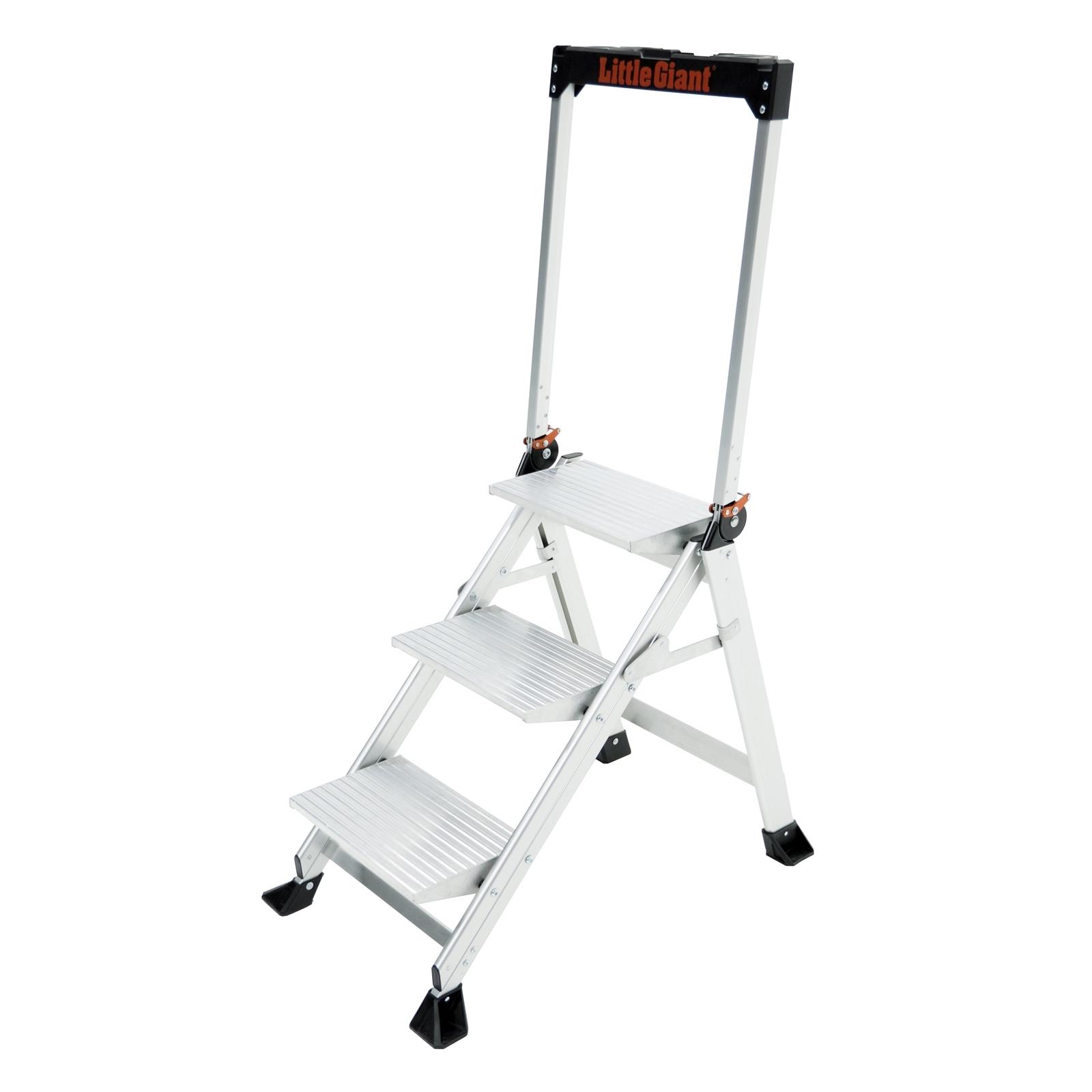 Little Giant Jumbo Step - 3 Step Ladder With Handrail