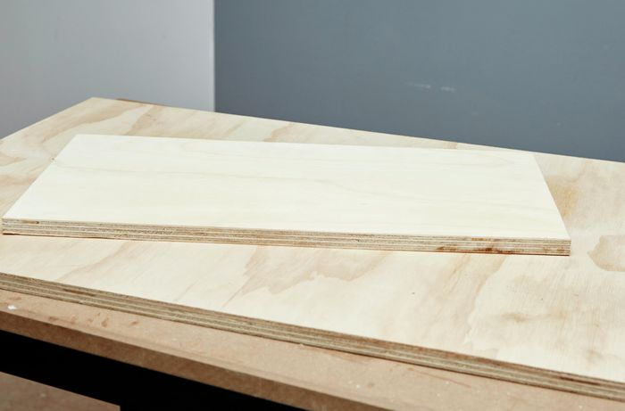 Two thick sheets of plywood
